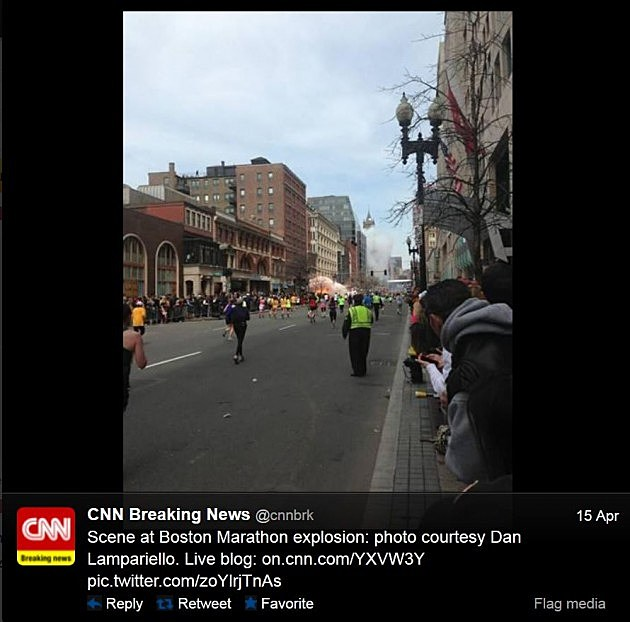 Photo of Boston Explosion