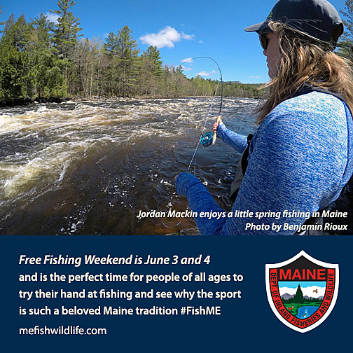 Free fishing in maine this weekend for Maine fishing laws 2017
